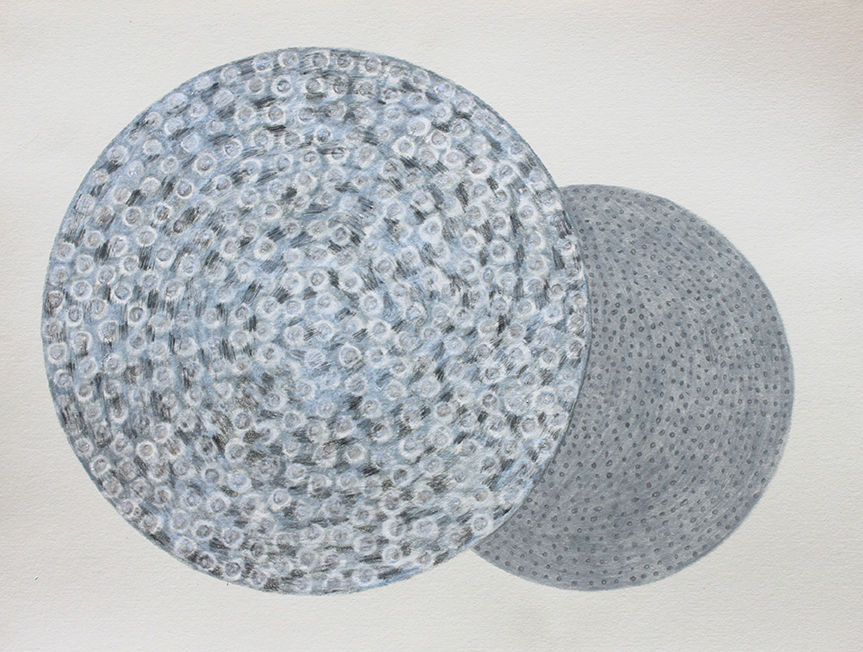 Round blue grey - Judy Oakenfull