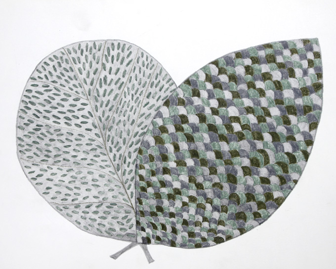 Two leaves together 5 - Judy Oakenfull