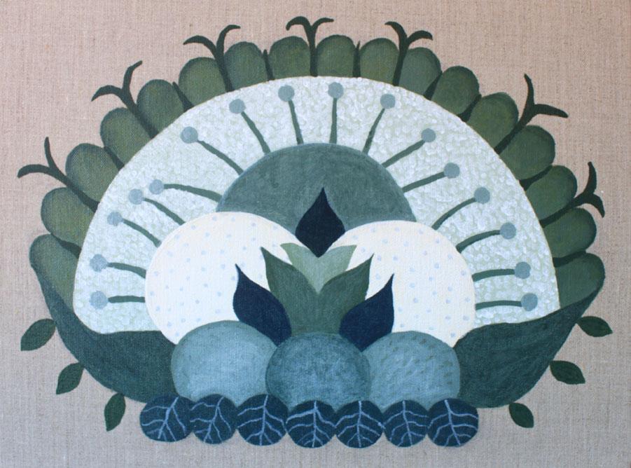 Judy-Oakenfull_Subtropical-Bouquet_2015_30x40cms_Acrylic-on-linen