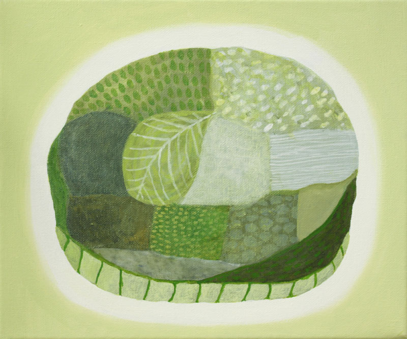 Judy-Oakenfull_Leafy-Green-Island_2015_Acrylic_25x30cms