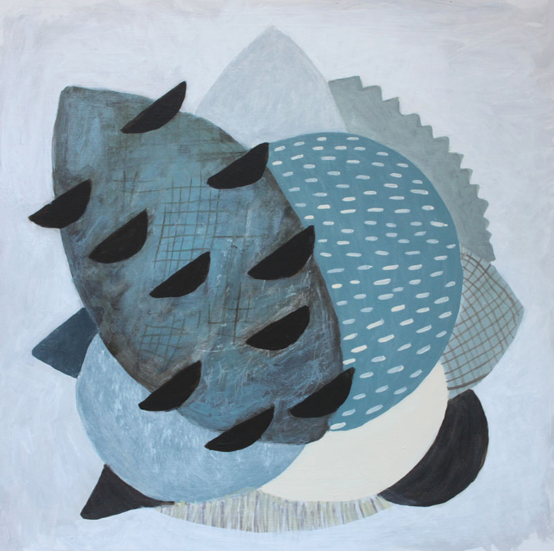 Oakenfull-Judy_Talking-with-Banksia's_30x30cms_2017