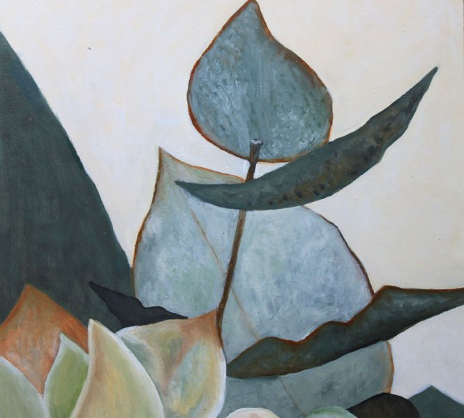 Eucalyptus leaves Oil Painting