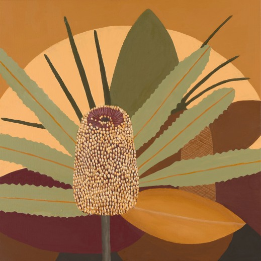 Oakenfull_J_Radiant Banksia_2019_Oil on canvas_40x40x3cms