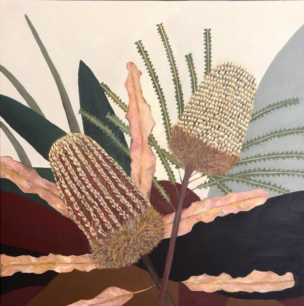 Dried Banksia Painting