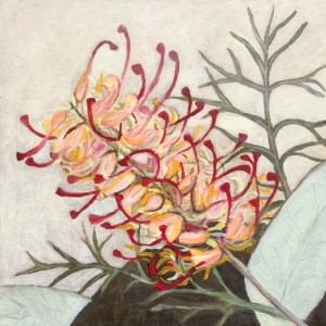 Oil Painting of Grevillea Native Flower
