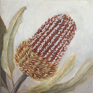 Banksia painting oil on canvas