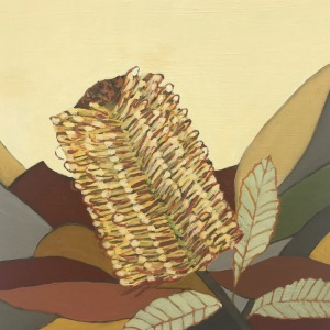 Post Banksia oil painting